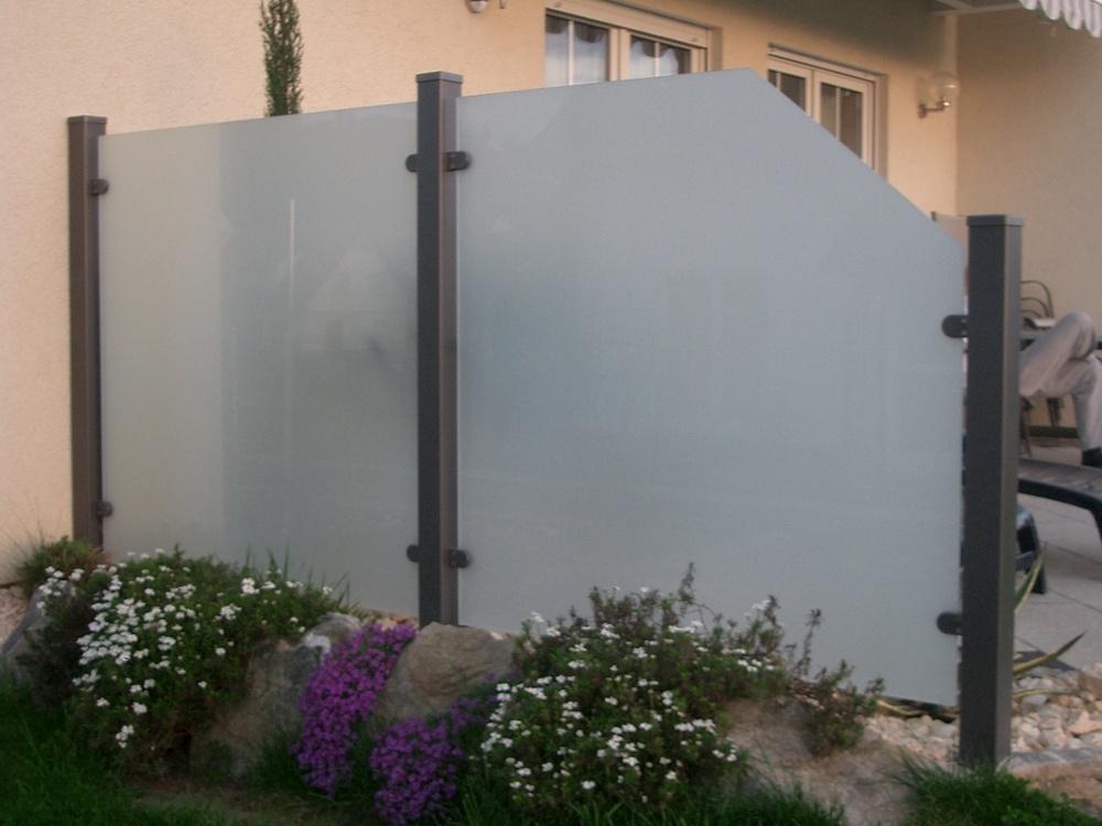 Fantastisch 10421520170207_Sichtschutz Aus Glas Fur Terrasse – Filout.com AB53